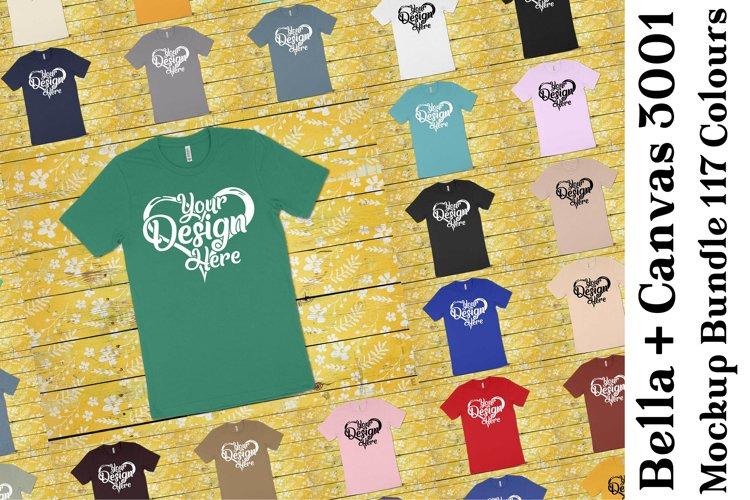 Bella Canvas 3001 Mockup Bundle Clean T-Shirt Mock Ups 347 example image 1