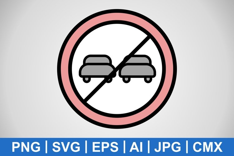 Vector Overtaking prohibited Icon example image 1