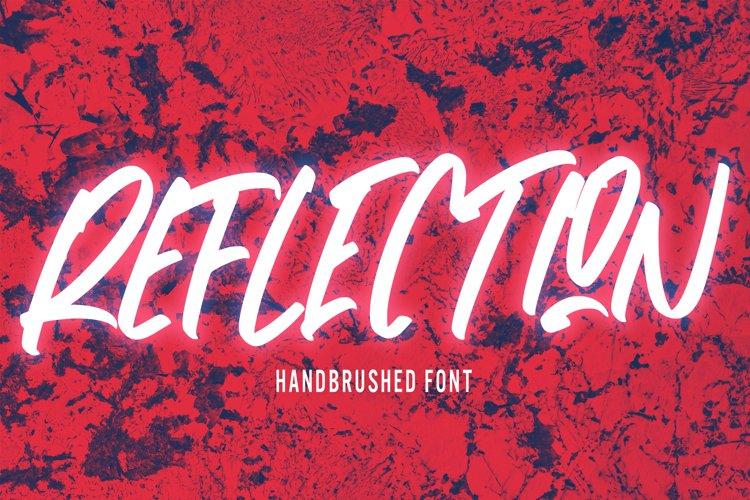 Reflection - Handbrushed Font example image 1