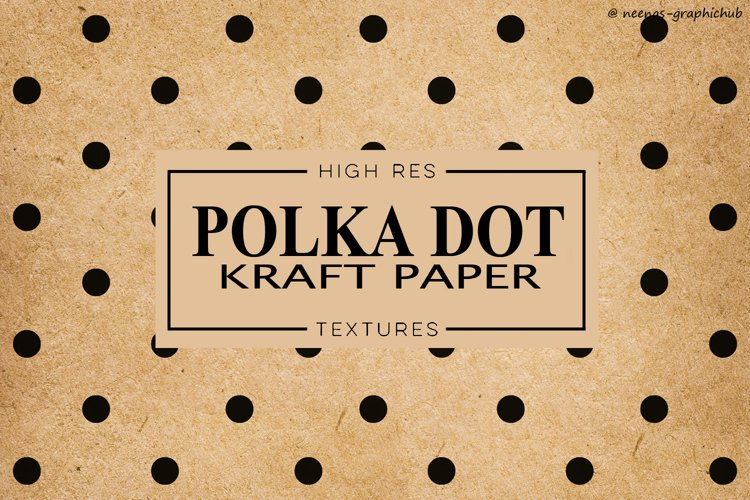 Polka Dot Kraft Paper Textures example image 1