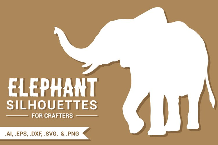Elephant Silhouettes for Crafters