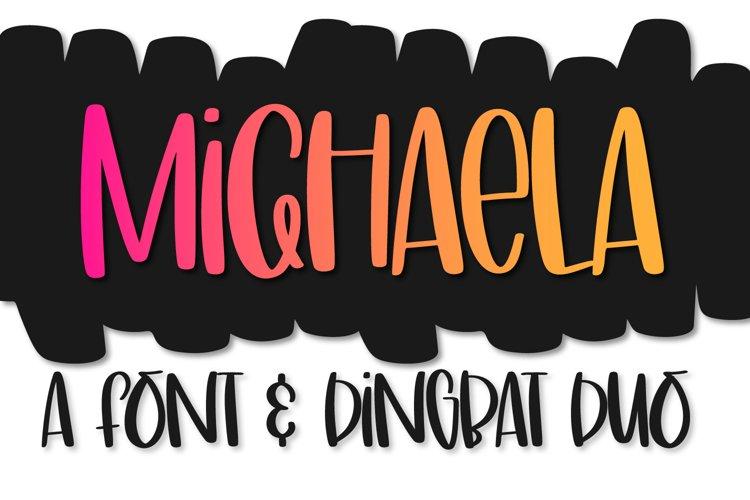 Michaela - A Font & Dingbat Duo example image 1