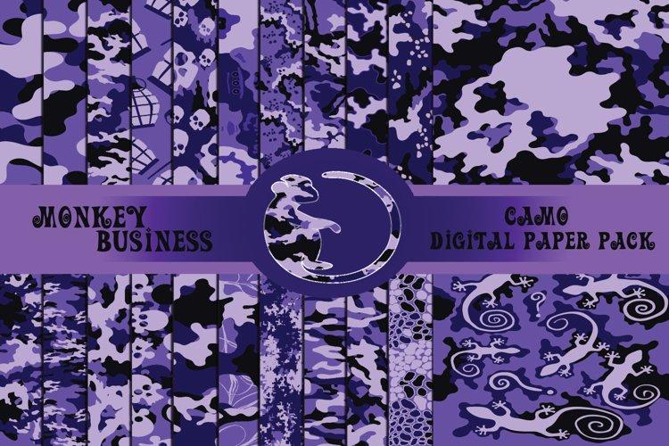 Purple fashionable digital paper pack, Instant download