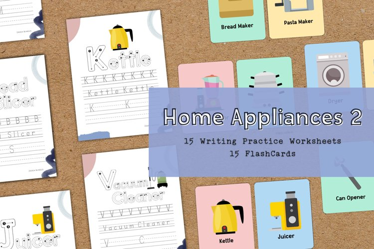 Home Appliances 2 Educational Writing Practice Worksheet example image 1