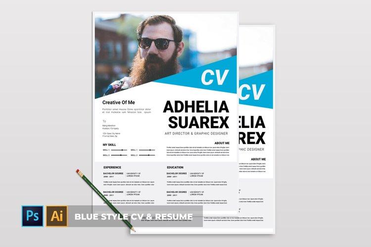 Blue Style | CV & Resume example image 1
