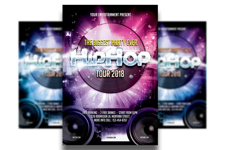 Hip Hop Flyer Template #3 example image 1