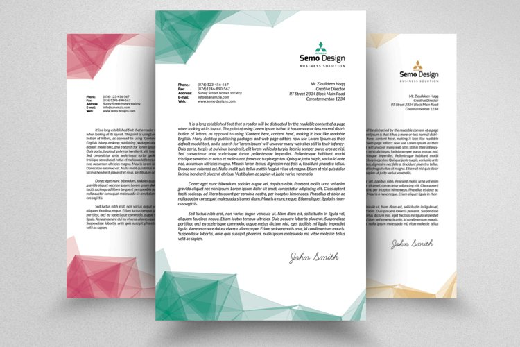 Business Letterheads editable File example image 1