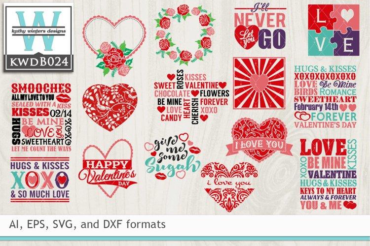 BUNDLED Valentines Cutting Files KWDB024