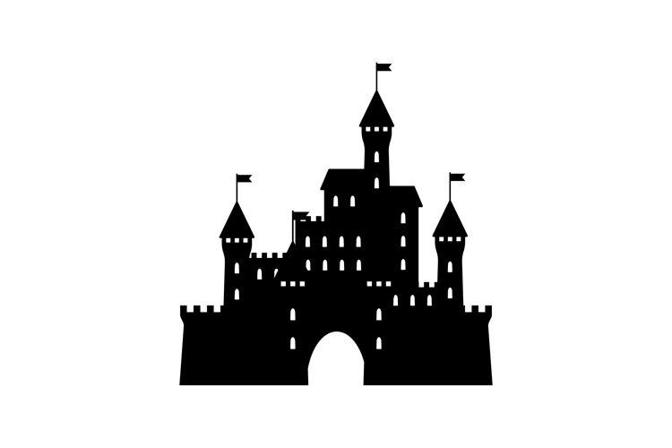 Castle icon simple design black colour example image 1