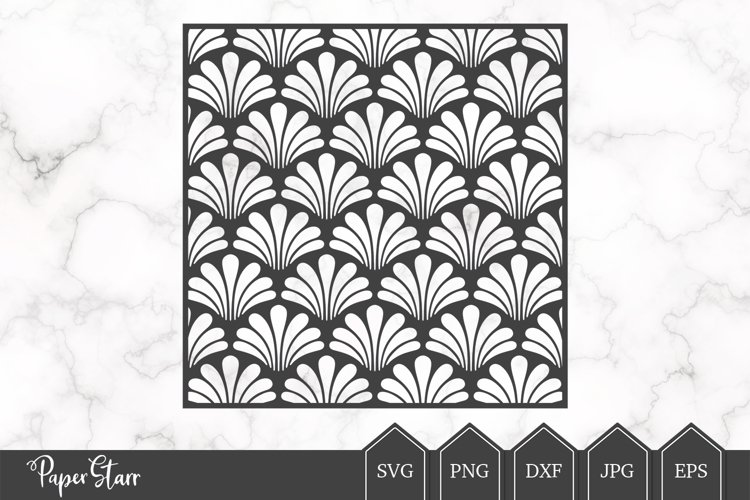 Scallop Background SVG / DXF Cut File example image 1