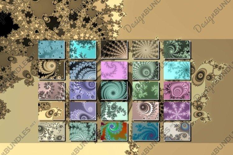 25 different Mandelbrot set fractal mathematical backgrounds