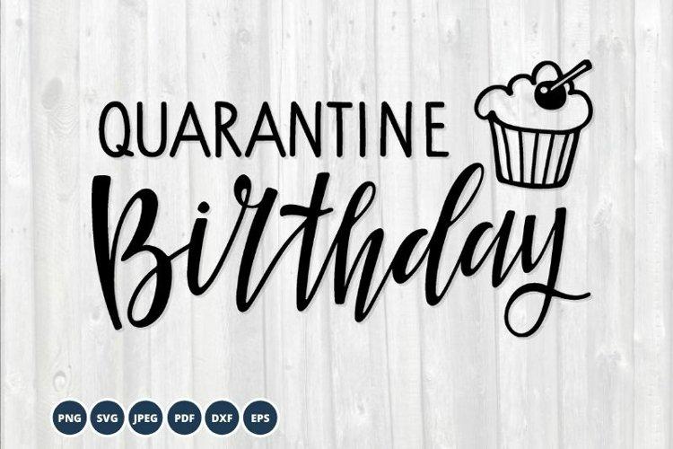 Quarantine Birthday SVG. Birthday 2021 cupcake Svg Cut Files example image 1