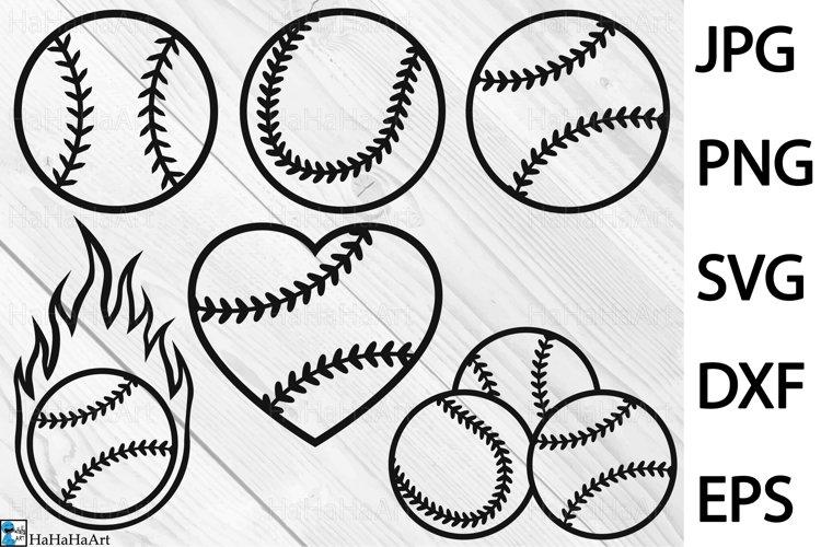 Baseball Balls Designs - Clip art / Cutting Files 1340c example image 1