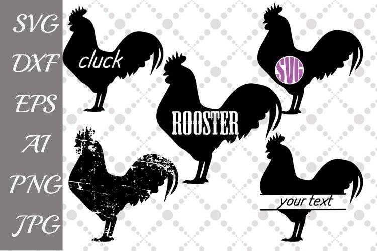 Rooster Svg,FARM SVG, Farm Animal Svg,Rooster Monogram Svg