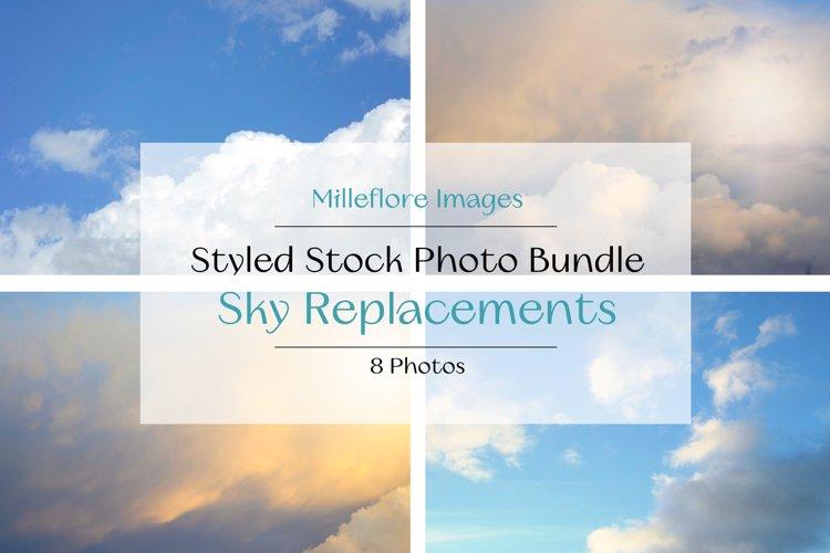 Sky Replacements Overlays Photography 8 JPEG Photos Bundle