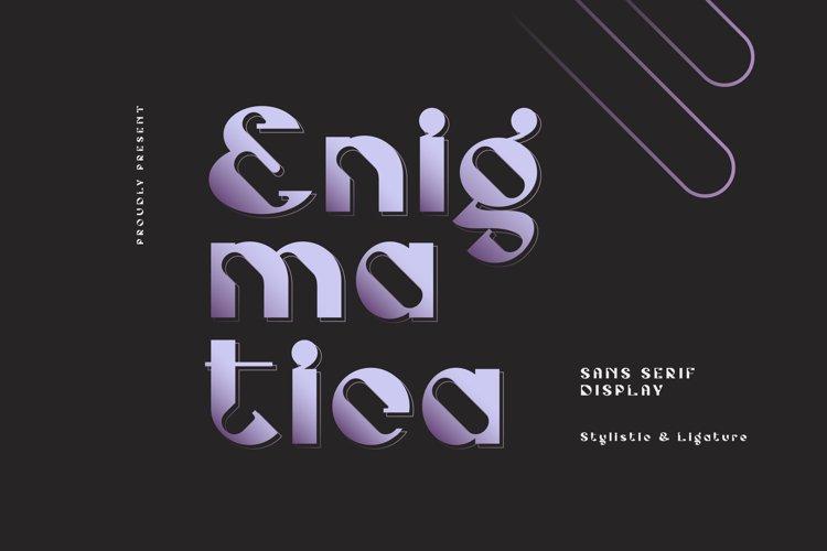 Enigmatica - Retro Futuristic Font example image 1