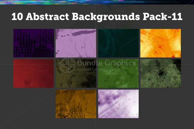 10 Abstract Backgrounds – Pack-11 example image 1