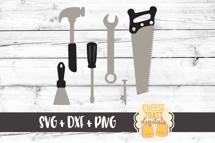 Tools - Hammer - Screwdriver - Nail - Saw SVG PNG DXF Files example image 1