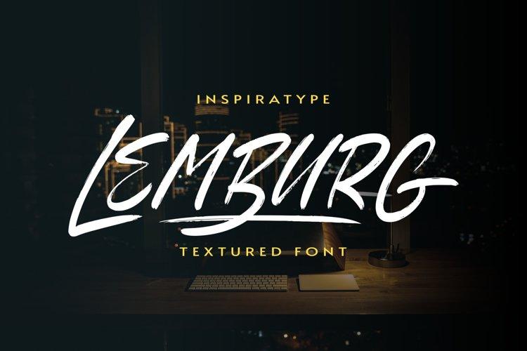 Lemburg - Textured Font example image 1