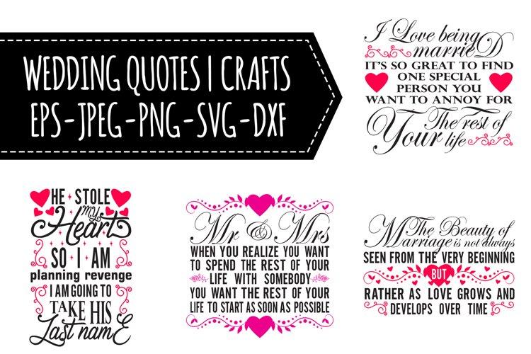 Wedding Quotes SVG Bundle example image 1
