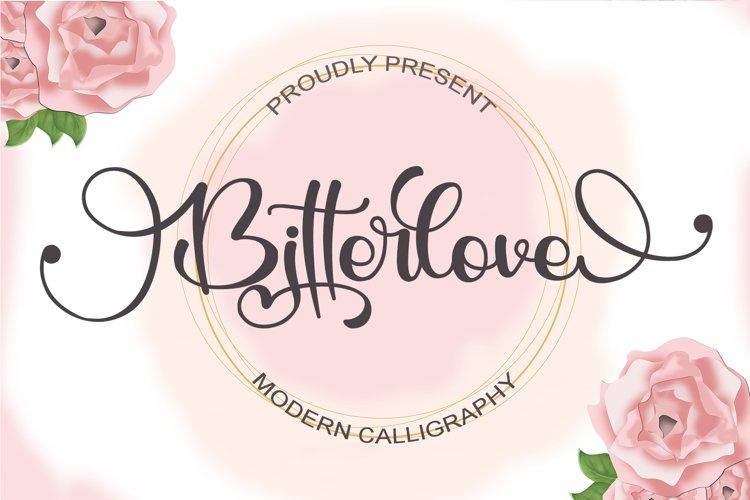 Bitterlove - Modern Calligraphy example image 1