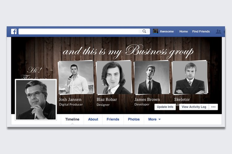 Business Group Member FB Timeline Cover example image 1