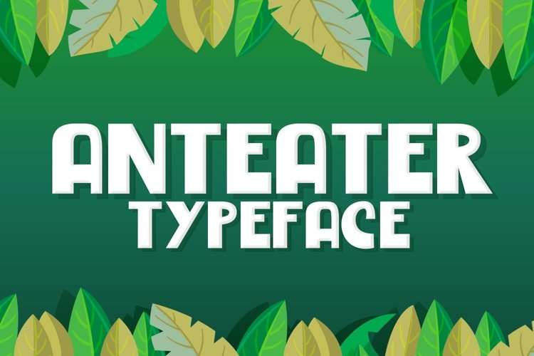 Web Font Anteater example image 1