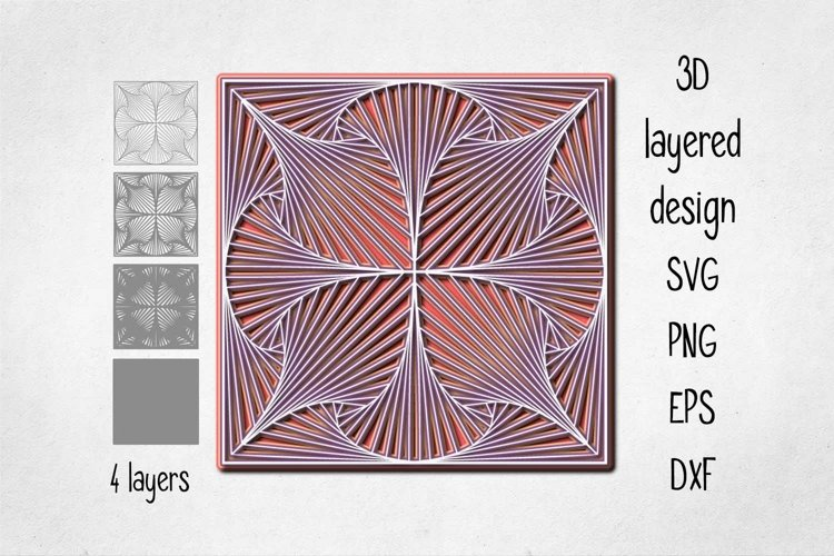 3D layered Geometric pattern Cut file