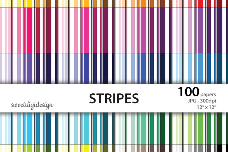 Seamless stripes digital 100 colors backgrounds example image 1