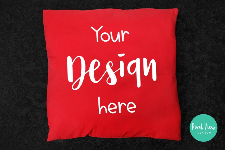 Red Pillow Mockup