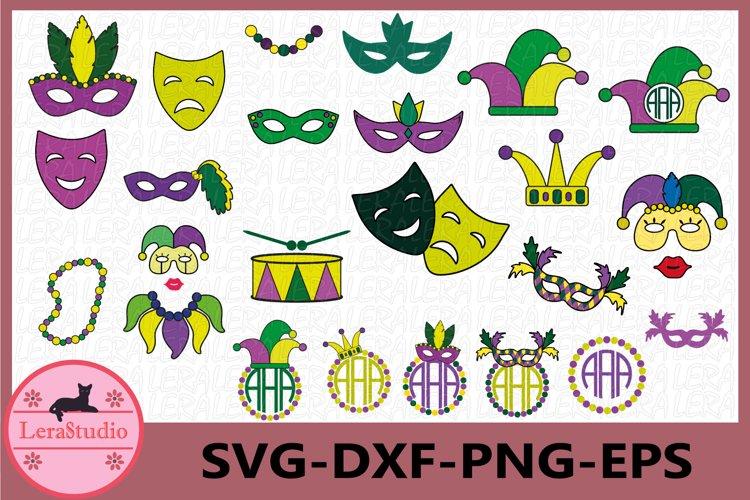 Mardi Gras Svg, Mardi Gras Clip Art, Mardi Gras Monogram