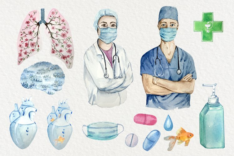 Healthcare Clip Art Set