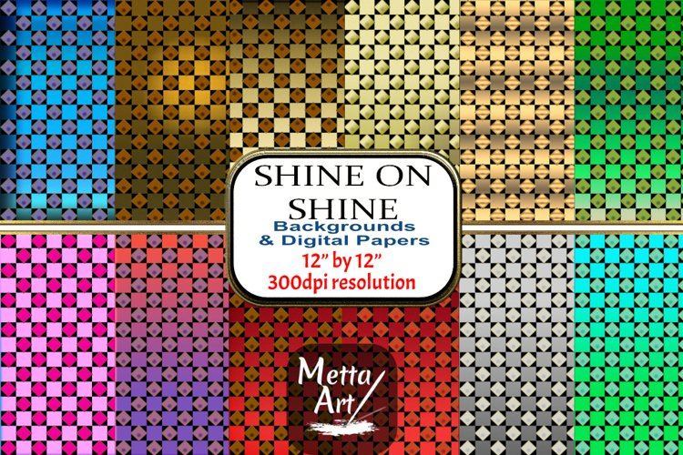 12 Seamless Pattern - 12 x 12 Diamonds and Squares Shine