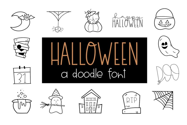 Creep It Real - A Spooky Halloween Doodles Font example image 1