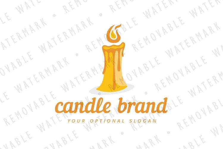 Melting Candle Logo example image 1