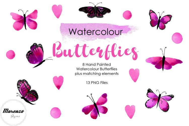 Purple Watercolour Butterflies example image 1