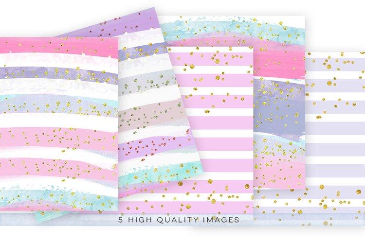 watercolor confetti paper, digital download watercolor confetti paper, watercolor digital paper pack, gold paper pack, rainbow paper
