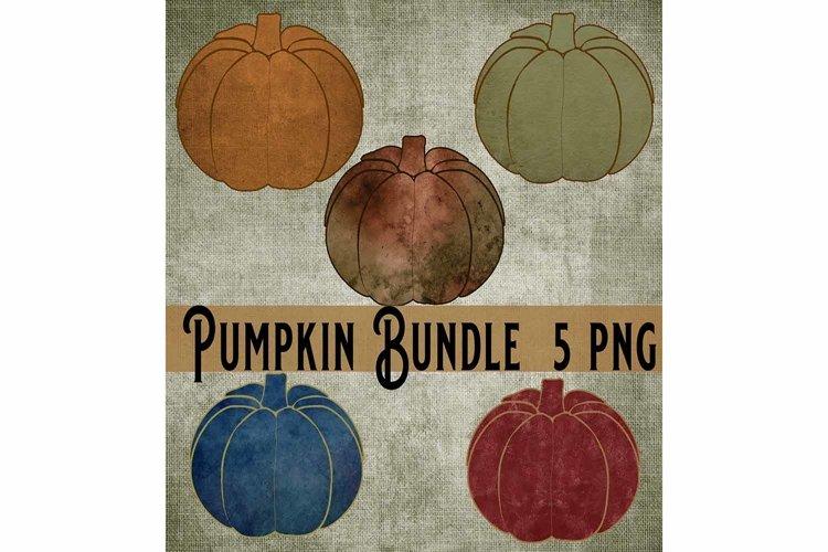 Fall Pumpkin Bundle, Print Art Sublimation 5 PNG example image 1