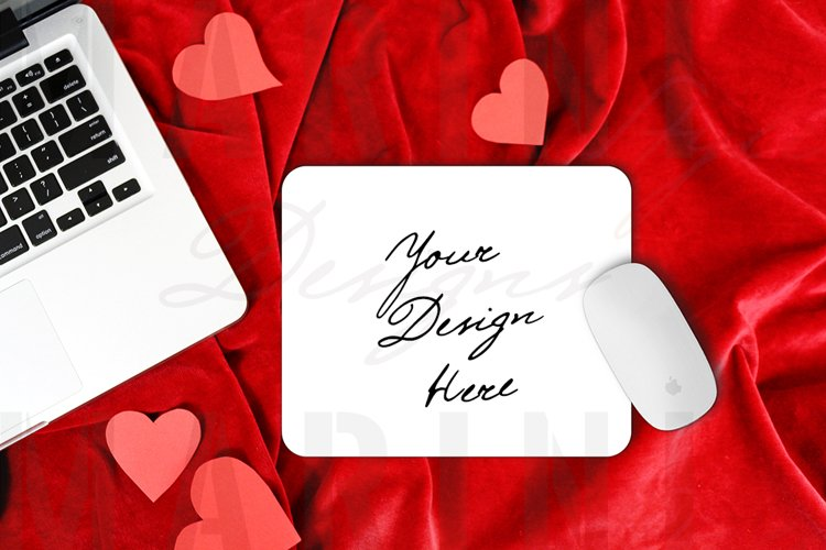 Valentines day Mouse pad Mockup, Rectangular Mouse Pad 1154