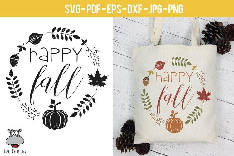Happy Fall, Thanksgiving SVG, Fall, Autumn SVG, Pumpkin example image 1