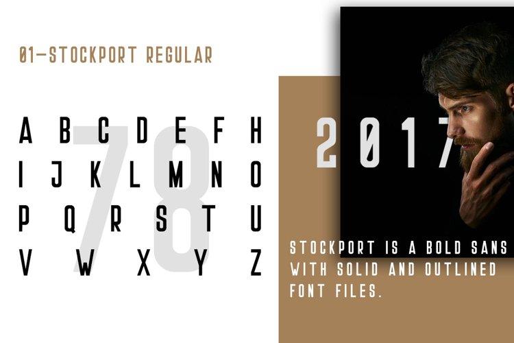 Stockport Font + Bonus Logo example 1