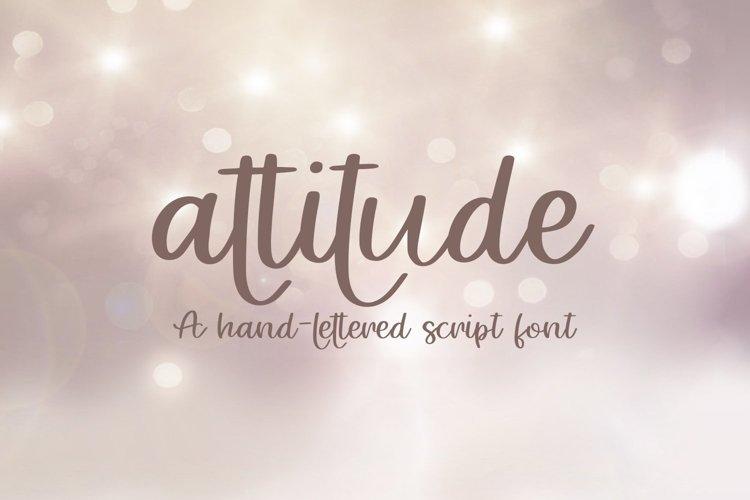 Web Font Attitude - A Hand-Lettered Script Font