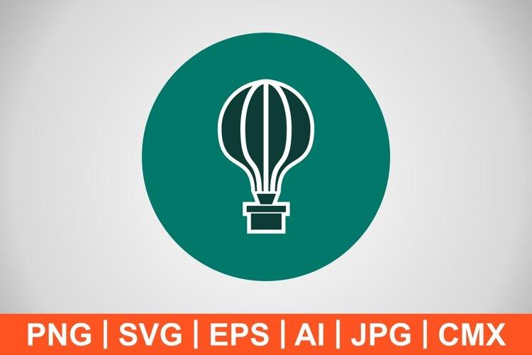 Vector Air Balloon Icon example image 1