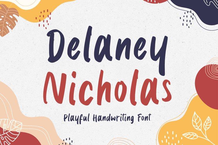 Cute Handwritten - Delaney Nicholas Font example image 1