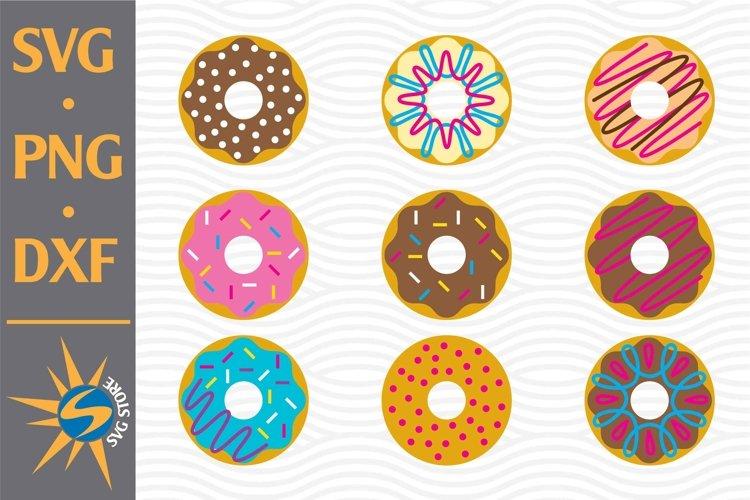 Donut Bundle SVG, PNG, DXF Digital Files Include