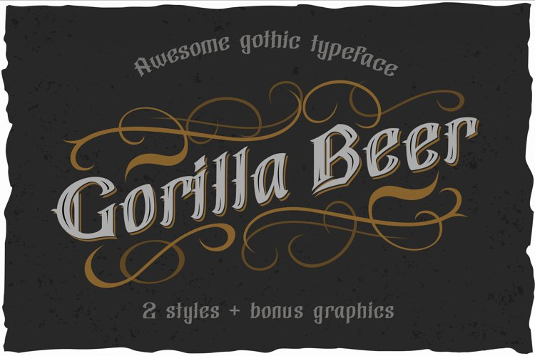 Gorilla beer - gothic typeface example image 1
