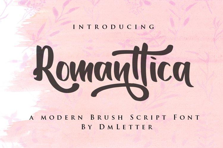 Romanttica - Modern Script Brush Font example image 1