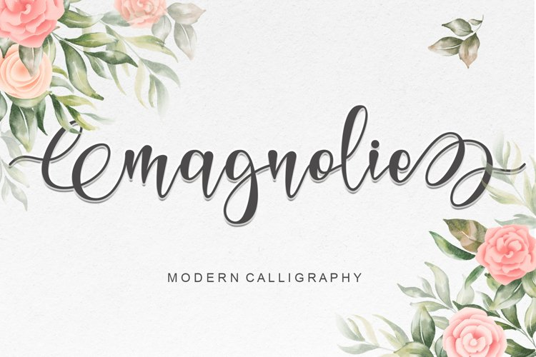 Magnolie - Modern Calligraphy example image 1