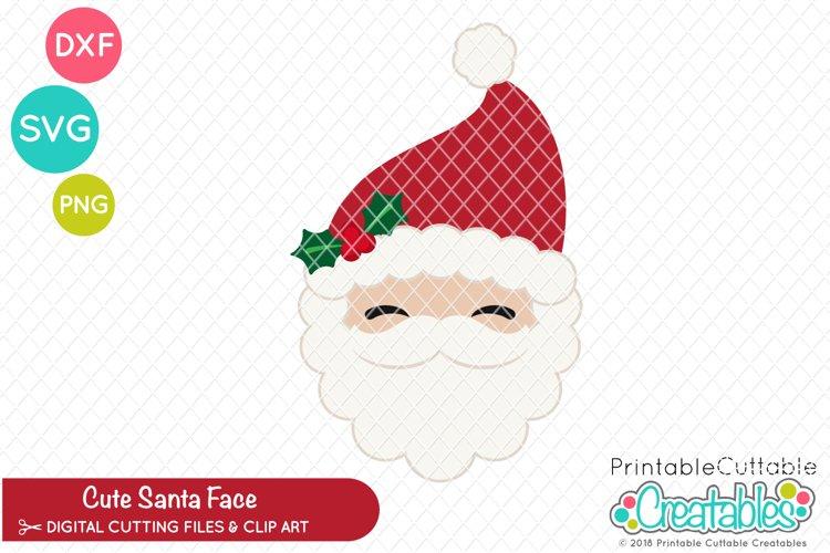 Cute Santa Claus Face SVG example image 1