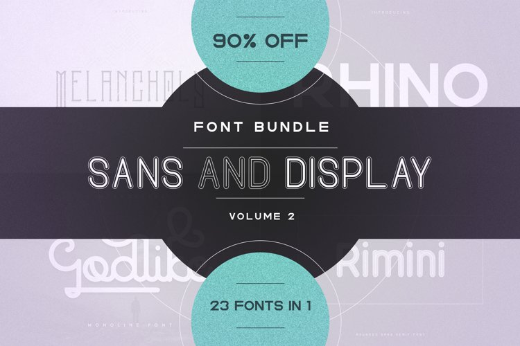 23in1 Sans and Display font bundle | Volume 2 example image 1